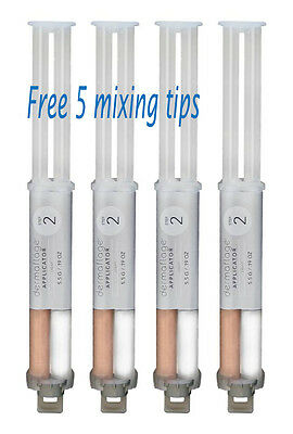 Dermaflage 4 Filler (4 Pack) FREE 5 mixing tip: Choose from choice Scar Cover