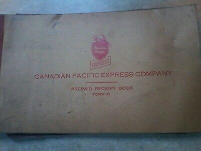 Vintage 1950s Mid-Century Canadian Pacific Exress Company Receipt Book unused