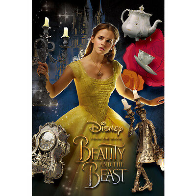 "Disney Beauty and the Beast ""Bell and Friends"" 3D Lenticular Card / 3D Postcard"