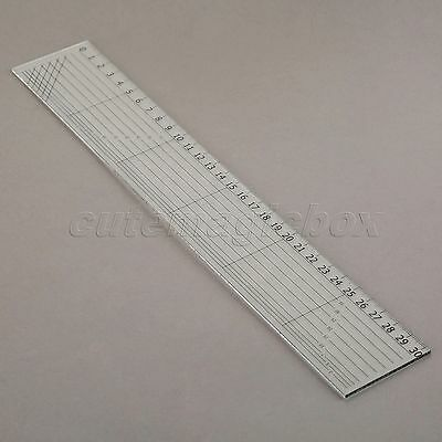 Transparent Sew Easy Rectangle Patchwork Ruler Qulting Sewing Cutting Kit 30x5cm