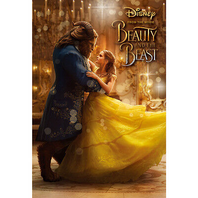 "Disney Beauty and the Beast ""Bell and Beast""3D Lenticular Card / 3D Postcard"