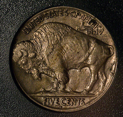 1920-D 5C Buffalo Nickel XF+ well struck with strong full horn and split tail!
