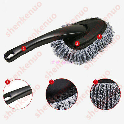 Vehicle Auto Car Truck Cleaning Wash Brush Dusting Tool Microfiber Duster Gray
