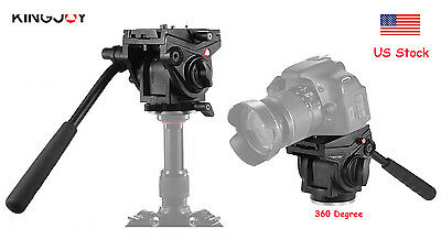 US NEW KINGJOY VT-3510 Heavy Duty Video Camera Tripod Action Fluid Drag Head