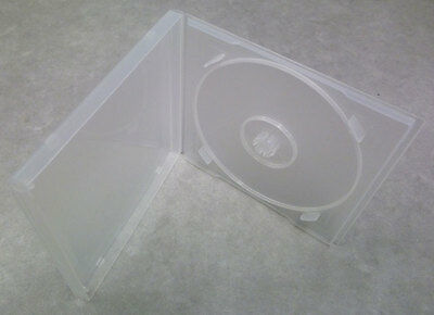 50 x Single Standard Clear Flexible Plastic CD Cases with Insert Sleeve - New