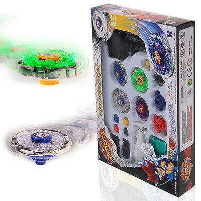 Metal Master 4D Beyblade Fusion Rapidity Fight Launcher Grip Set Gifts Kid Toy