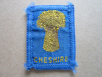 Cheshire Woven Cloth Patch Badge Boy Scouts Scouting Guides