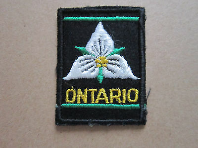 Ontario Canada (1) Woven Cloth Patch Badge Boy Scouts Scouting