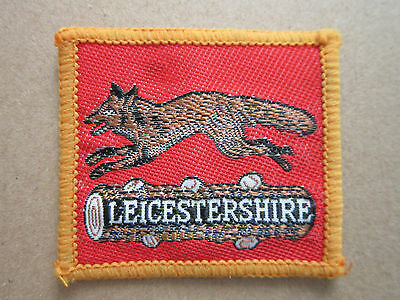 Leicestershire Woven Cloth Patch Badge Boy Scouts Scouting