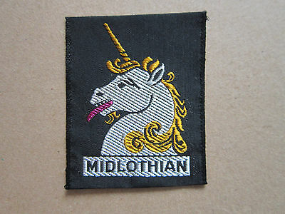 Midlothian Woven Cloth Patch Badge Boy Scouts Scouting