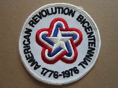 American Revolution Bicentennial BSA Woven Cloth Patch Badge Boy Scouts Scouting