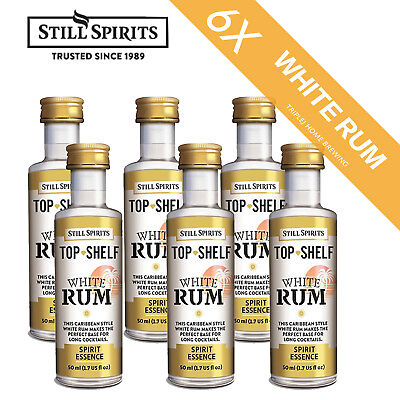 6 x Still Spirits Top Shelf White Rum spirit Home Brew Essence  Free Shipping