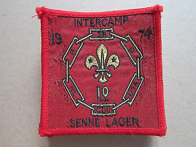 Senne Lager Intercamp 1974 Woven Cloth Patch Badge Boy Scouts Scouting