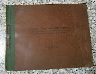 1942 Office Of  Naval Intelligence Merchant Ship Recondition Manual