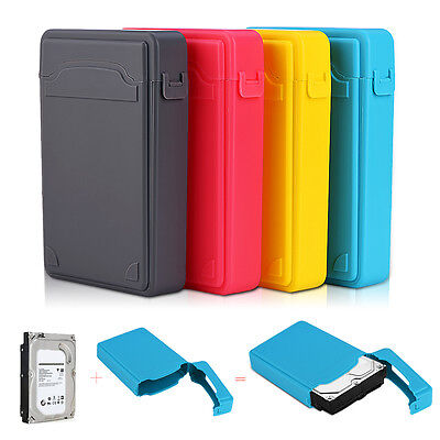 """3.5"""" Inch Hard Drive External Enclosure HDD HD Mobile Disk Shockproof Case Box S"""