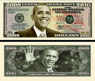 Farewell President Obama 2016 Dollar Bill Collectible Funny Money Novelty Note