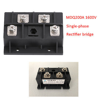 Bridge Rectifier MDQ200A 200A 1600V Full Wave Diode Module Single Phase 1 Phase