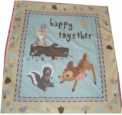 Bambi and Friends cot quilt