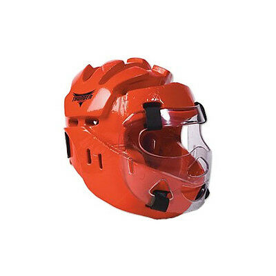 ProForce Thunder Full Headgear w/ Face Shield Red Youth Medium