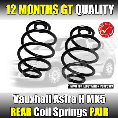 Vauxhall Astra H Mk5 2004-2011 1.4 1.6 1.8 Hatchback Rear Coil Springs X 2 New