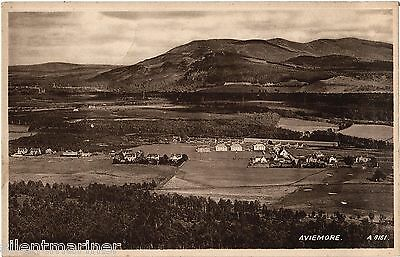 Aviemore, General View, old postcard, unposted