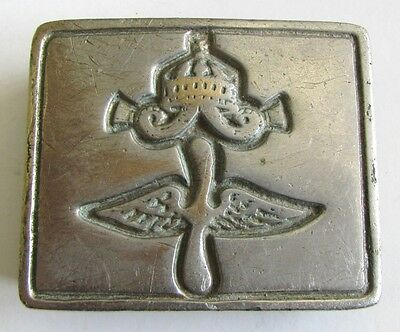 Rare Bulgarian Military Royal Officer belt buckle-PILOT AVIATOR/AIR FORCES WWII
