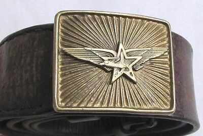 Rare Bulgarian Military Officer belt buckle-PILOT AVIATOR/AIR FORCES WWII 1945's