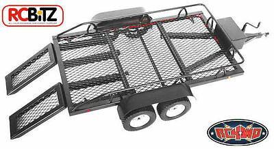BigDog 1/10 Dual Axle Scale Car/Truck Hauler Trailer Flat Bed by RC4WD with RAMP