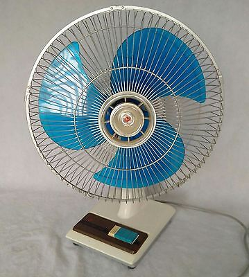 Vintage hoover Oscillating Fan 3 Speeds Retro Funky Working Well 80s 90s