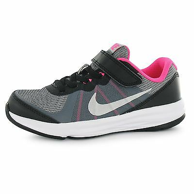 Nike Fusion X Running Trainers Junior Girls Blk/Silv/Pnk Sports Shoes Sneakers