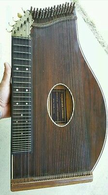 Late 1800's Hartmann Bros. & Reinhard Zither Music Instrument Fast FREE Shipping