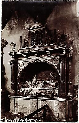 Bottesford, Tomb in St. Mary's Church, old RP postcard, unposted #2