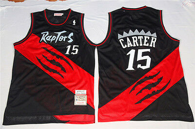 NEW Toronto Raptors #15 Vince Carter Retro Basketball Jersey Black