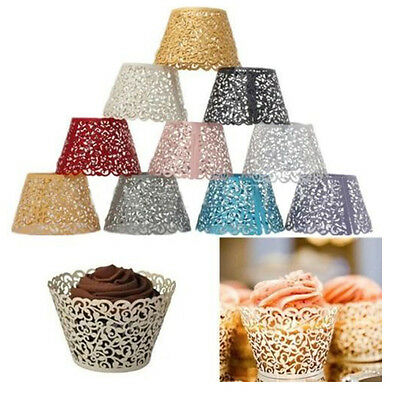 50Pcs Vine Cupcake Wrappers Collars Wraps Case Birthday Party Wedding Decoration