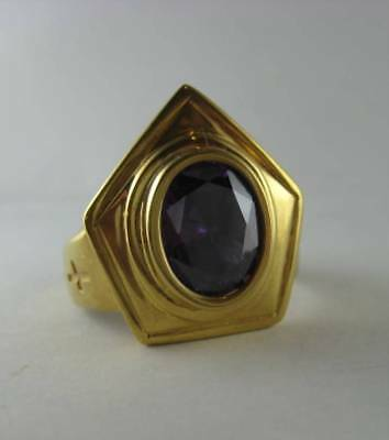 Sterling silver ring for Bishops with natural Amethyst - 2455