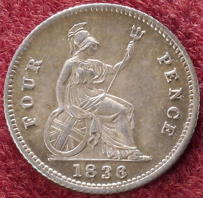 GB Fourpence (Groat) 1836 King William IV (D1101)