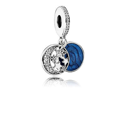 New 925 Stamped ALE Genuine Pandora VINTAGE NIGHT SKY PENDANT CHARM 791993CZ