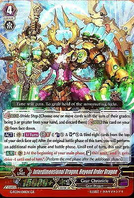 Cardfight G-FC04/018EN GR INTERDIMENSIONAL DRAGON BEYOND ORDER DRAGON Gears