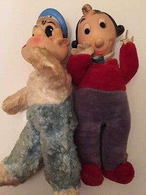 Vintage POPEYE (Gund, 1930's)and OLIVE OYL Stuffed Plush