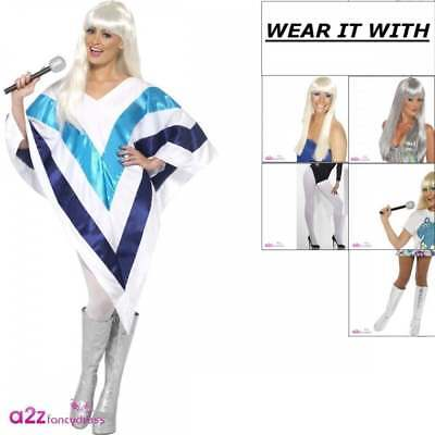 Womens Super Trooper Cape Poncho Adult Fancy Dress Costume Wig Bootcovers