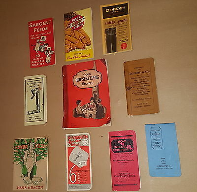 10 Vintage Agriculture Farm Product Books Plymouth Funks Sargent Altorfer & Co