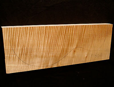Curly Flame Maple Guitar Top Billet Luthier 5A - 490/175/37mm (#F801)
