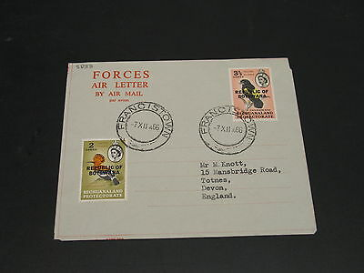 Botswana 1966 forces air letter to UK *5833