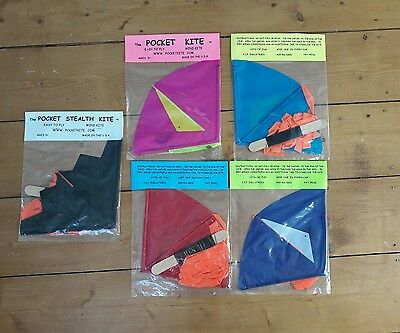 Boys Girls Adults Colourful New Pocket Kites Easy To Fly Small Kite
