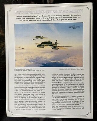 Sales Sheet for Robert Taylor Print Stormbirds Over the Reich Galland WWII Ace