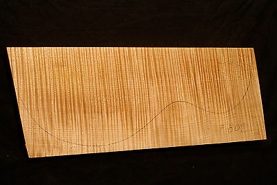 Curly Flame Maple Guitar Top Billet Luthier 5A Master - 450/180/35mm (#F802)
