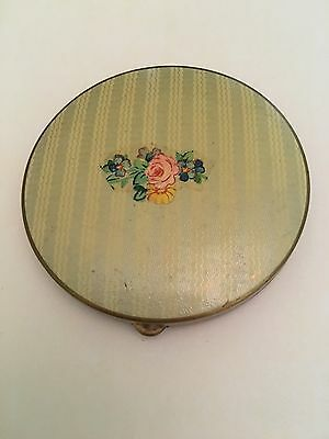 Vintage VASHE DUO Powder & Blush Compact Floral Flowers