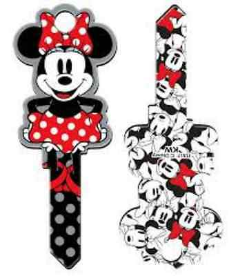 """MINNIE MOUSE """" Shaped """"  Reversable House Key Blank SCHLAGE SC DISNEY"""