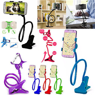 Adjustable Mobile Phone Long Arm Mount Lazy 360 Holder Stand For Cell Mobile