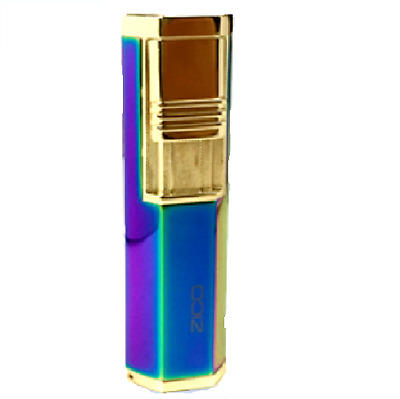 Zico Torch Lighter Twin Jet Flame Gas Refillable Multi-Colour Cigar Punch T130